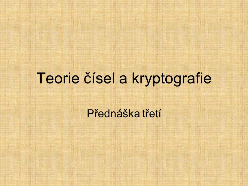 Teorie čísel a kryptografie