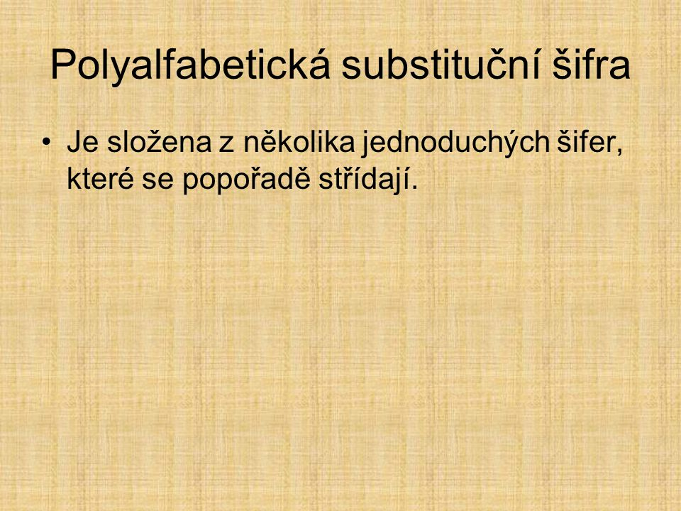 Polyalfabetická substituční šifra