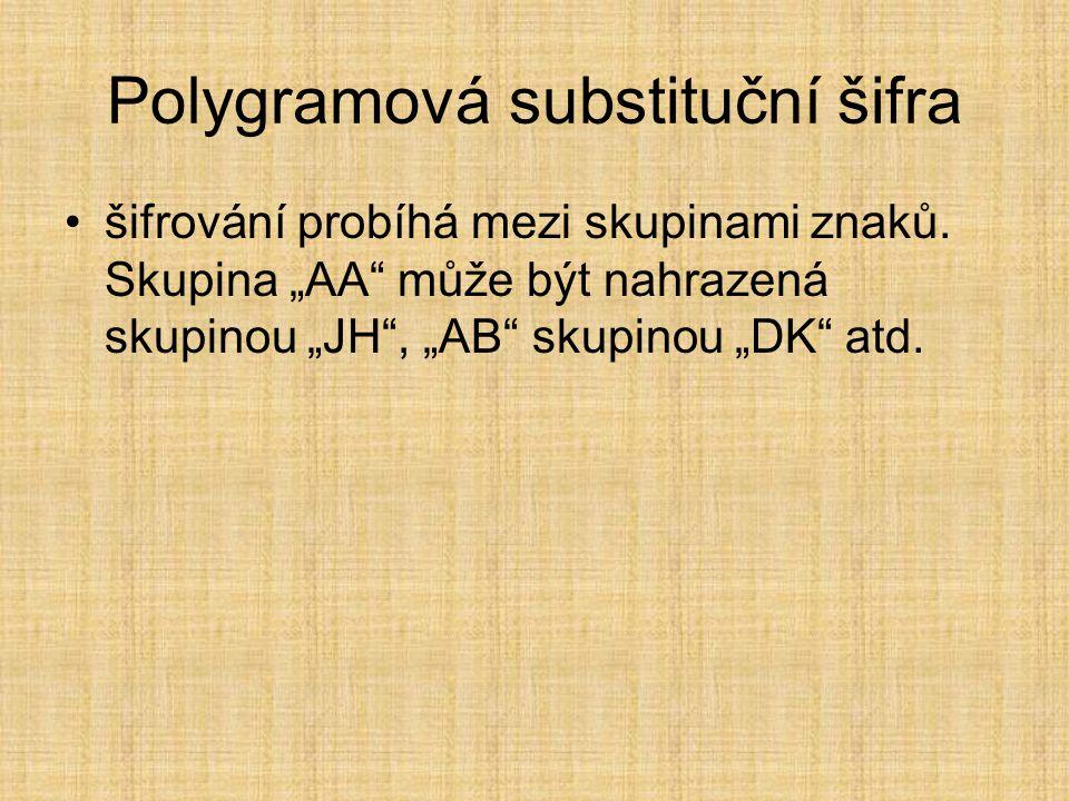 Polygramová substituční šifra