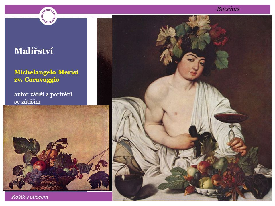 Malířství Bacchus Michelangelo Merisi zv. Caravaggio