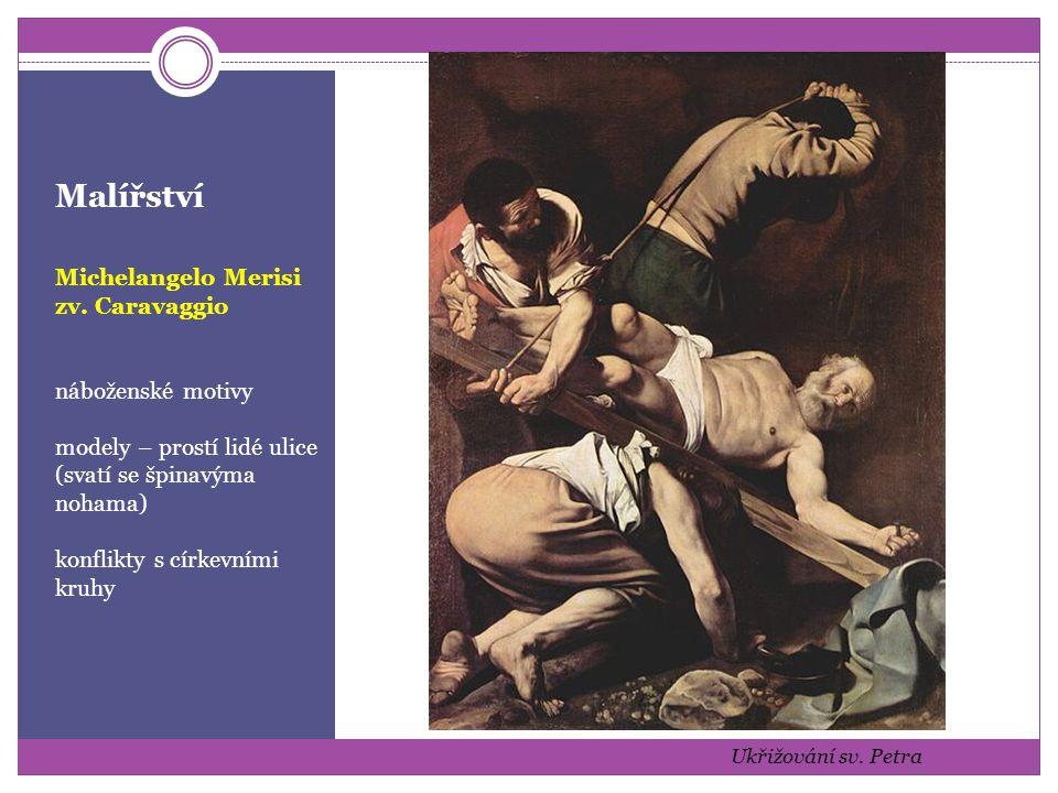 Malířství Michelangelo Merisi zv. Caravaggio náboženské motivy