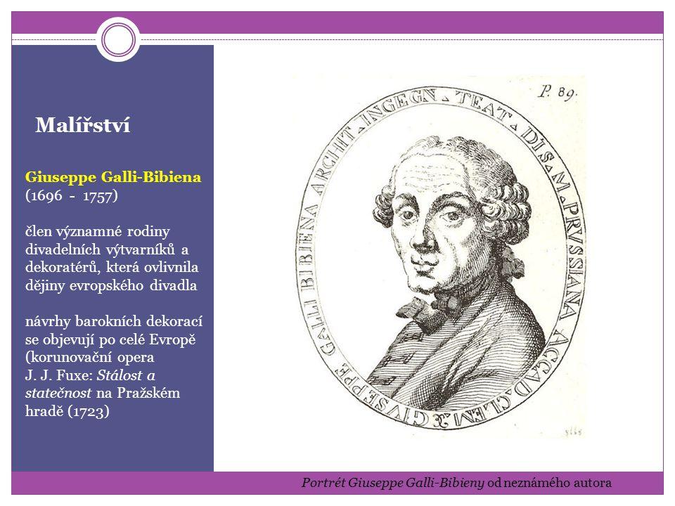 Portrét Giuseppe Galli-Bibieny od neznámého autora