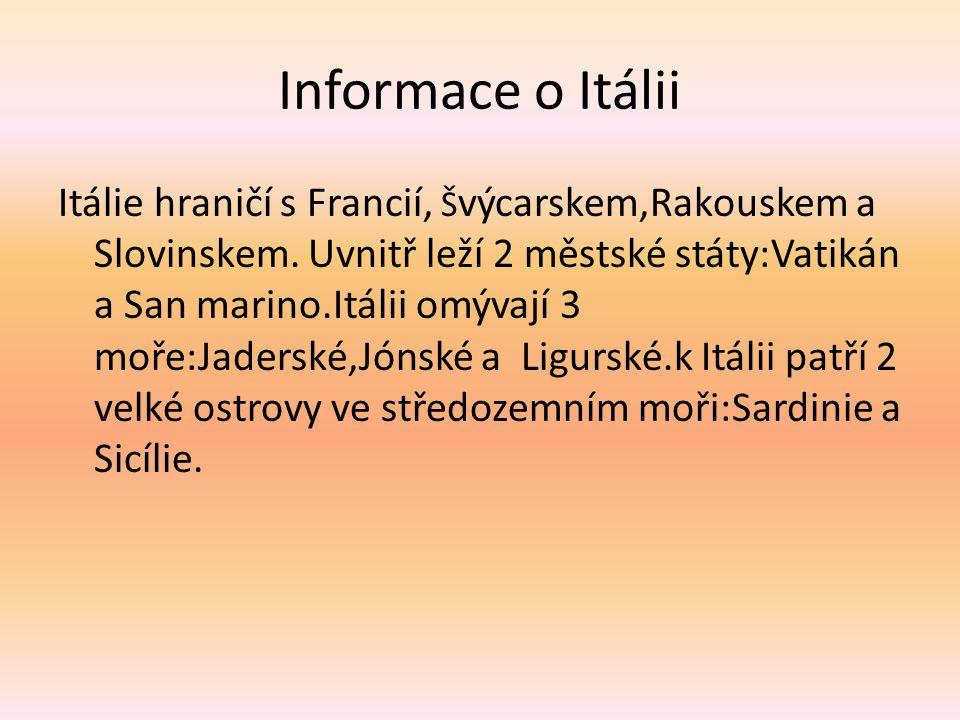 Informace o Itálii