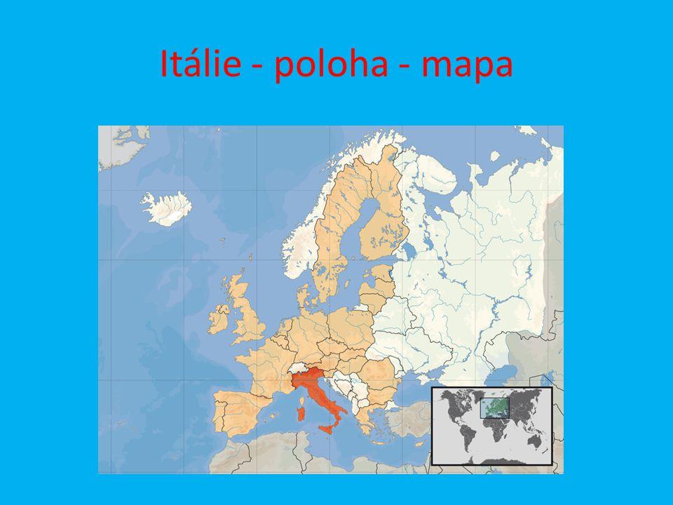 Itálie - poloha - mapa