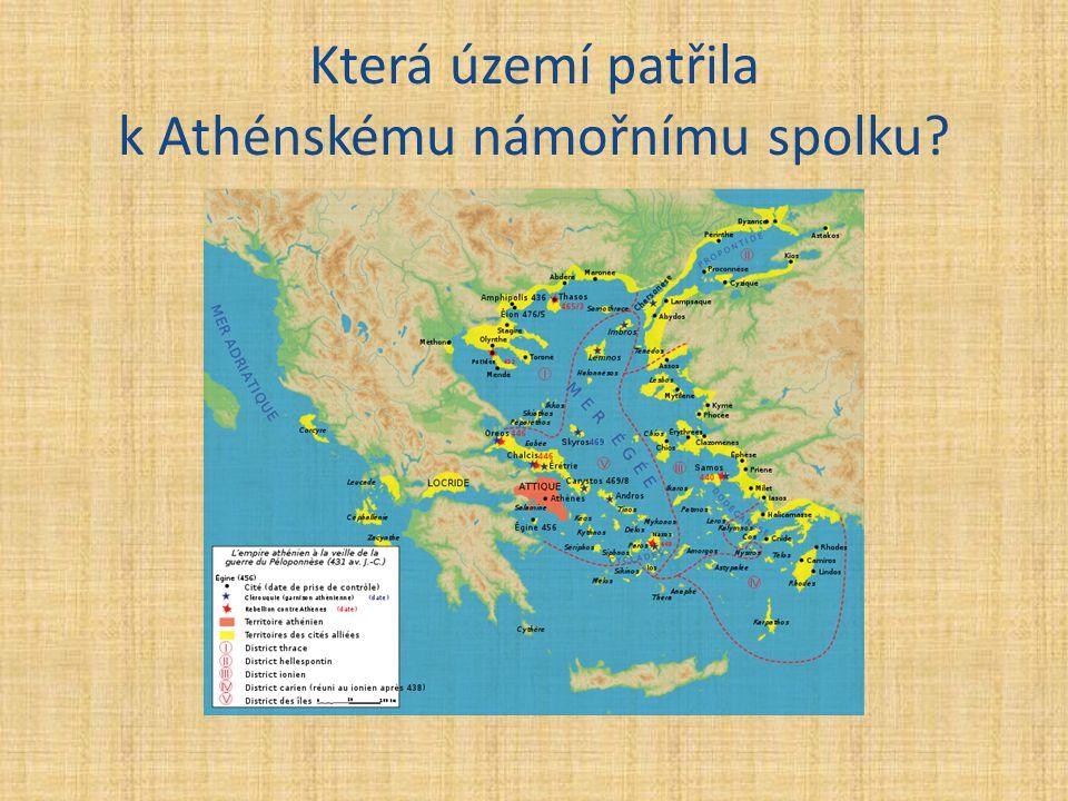 Která území patřila k Athénskému námořnímu spolku