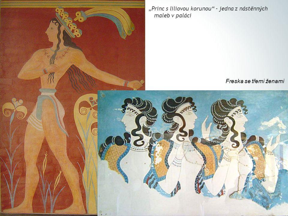 """Princ s liliovou korunou - jedna z nástěnných maleb v paláci"
