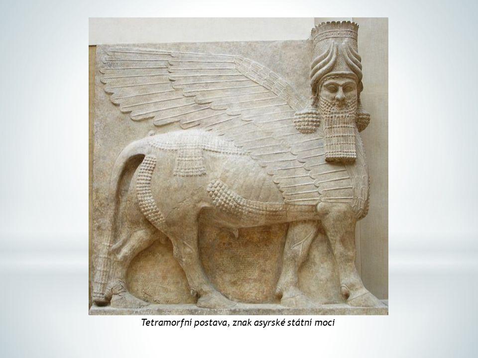 Tetramorfní postava, znak asyrské státní moci