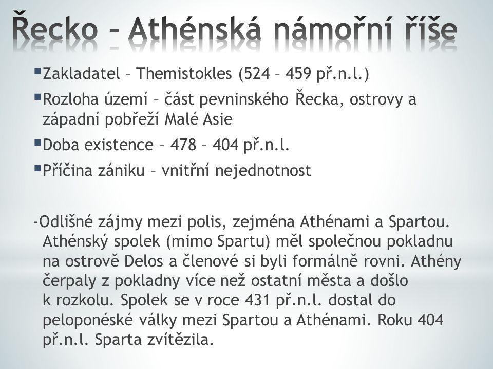 Řecko – Athénská námořní říše