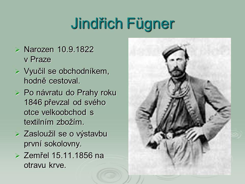 Jindřich Fügner Narozen 10.9.1822 v Praze