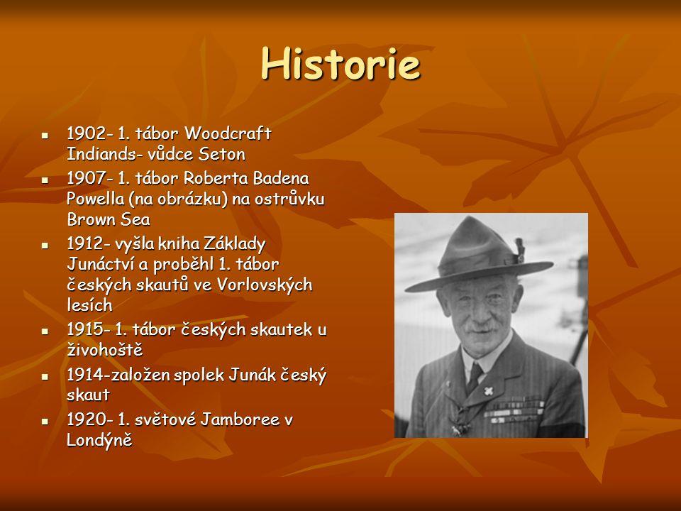 Historie 1902- 1. tábor Woodcraft Indiands- vůdce Seton