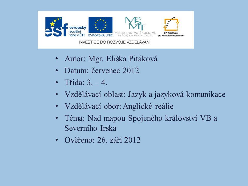 Autor: Mgr. Eliška Pitáková