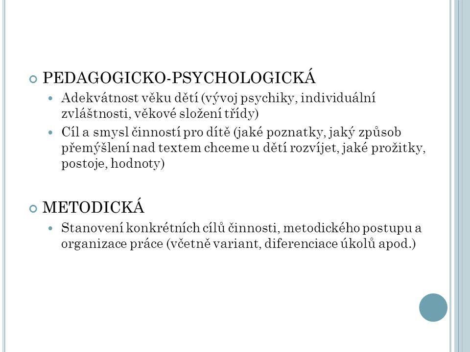 PEDAGOGICKO-PSYCHOLOGICKÁ