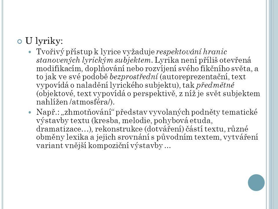 U lyriky: