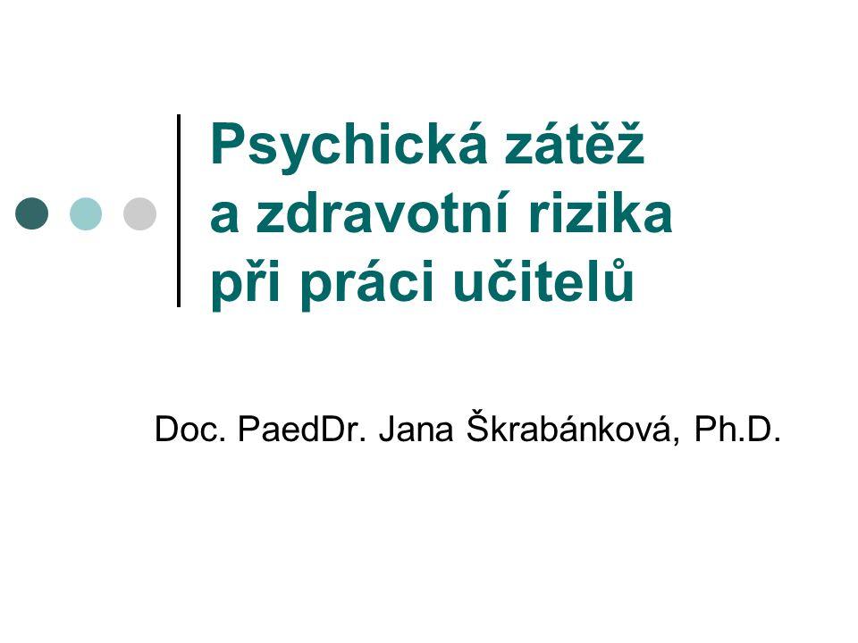 Psychická zátěž a zdravotní rizika při práci učitelů