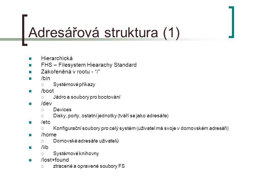 Adresářová struktura (1)