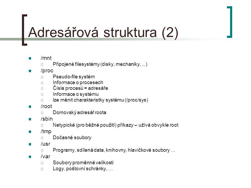 Adresářová struktura (2)