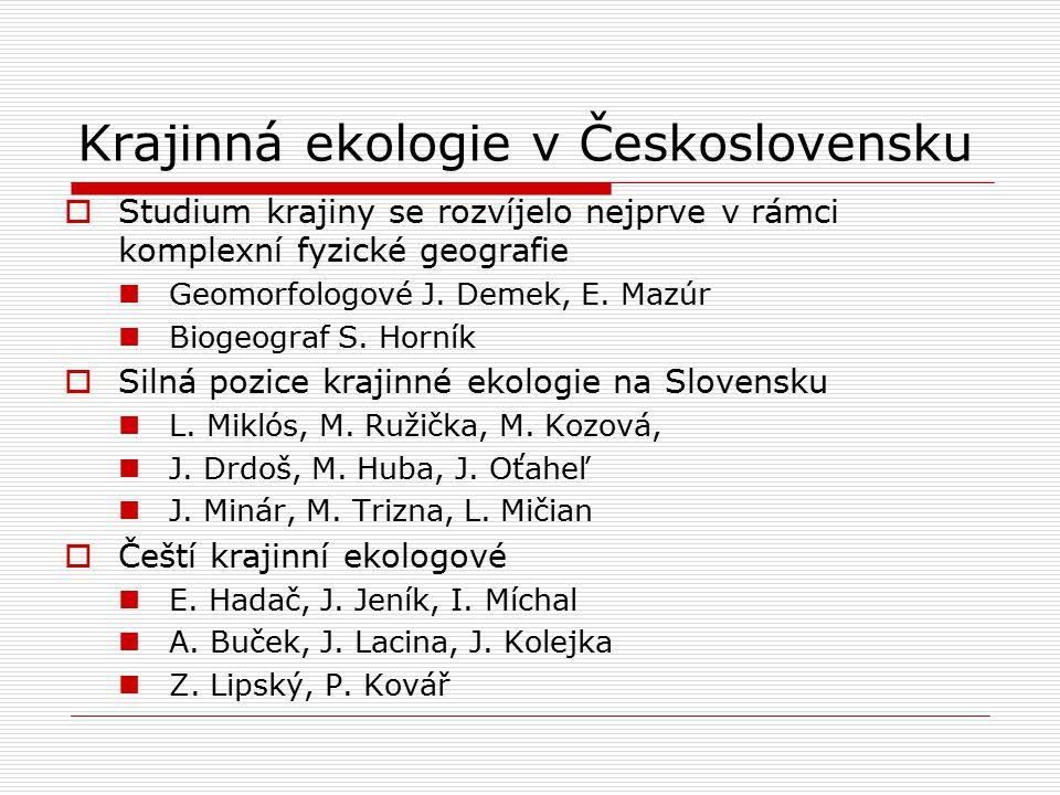 Krajinná ekologie v Československu