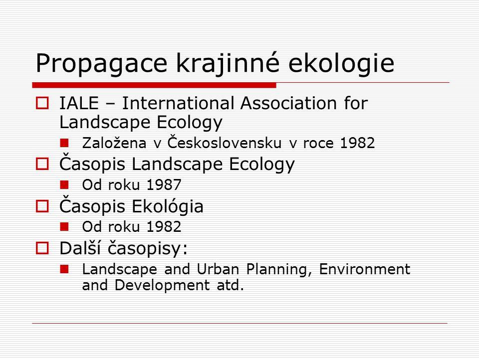 Propagace krajinné ekologie