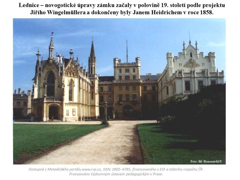 Lednice – novogotické úpravy zámku začaly v polovině 19
