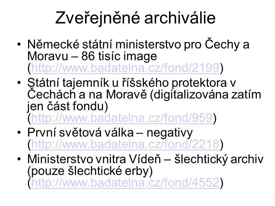 Zveřejněné archiválie