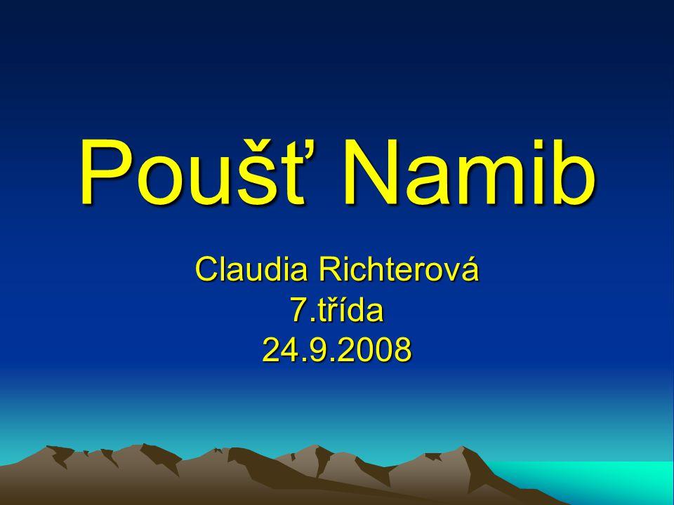 Claudia Richterová 7.třída 24.9.2008