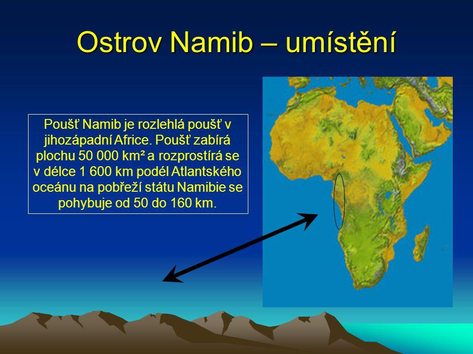 Ostrov Namib – umístění