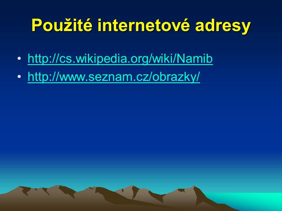Použité internetové adresy