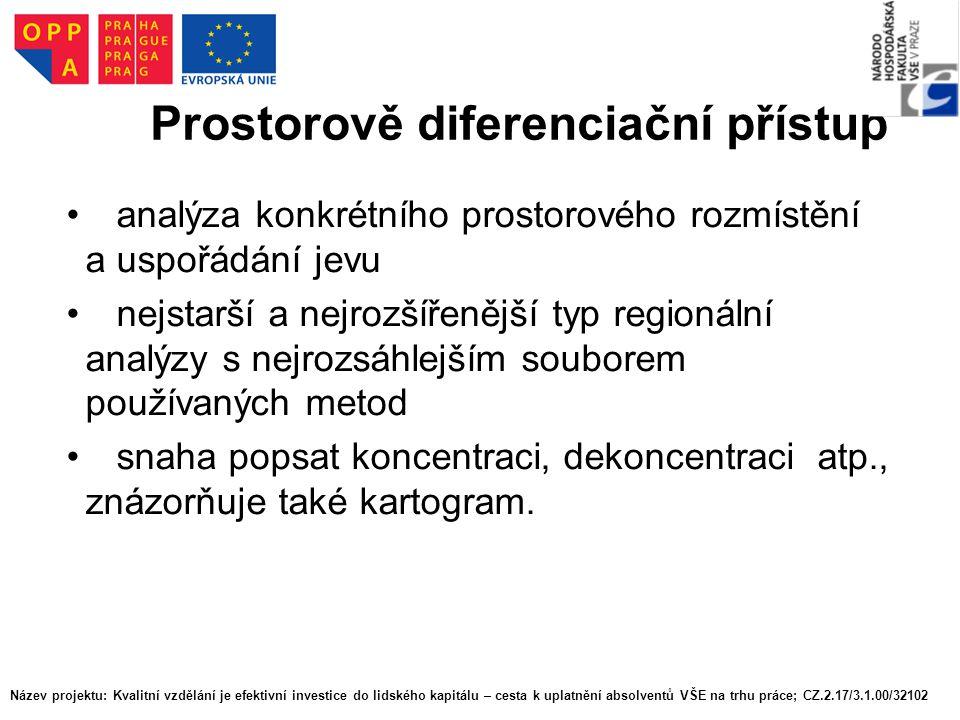 Prostorově diferenciační přístup
