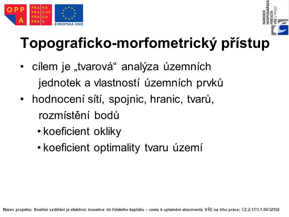 Topograficko-morfometrický přístup