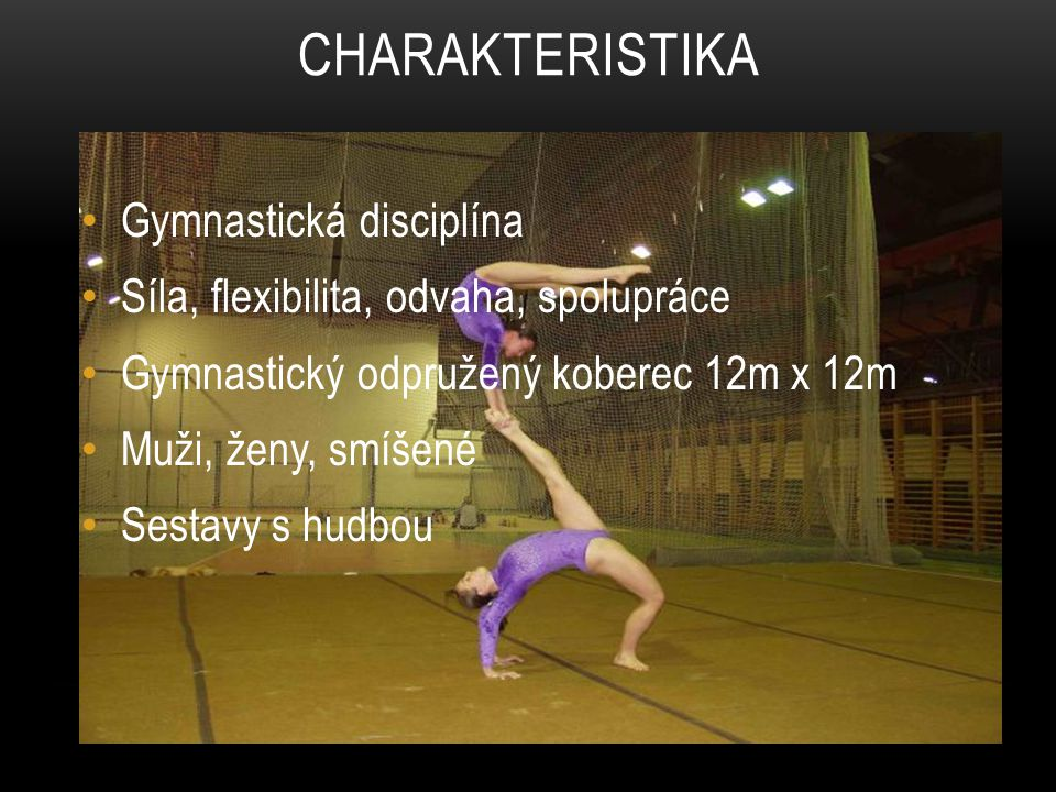 Charakteristika Gymnastická disciplína
