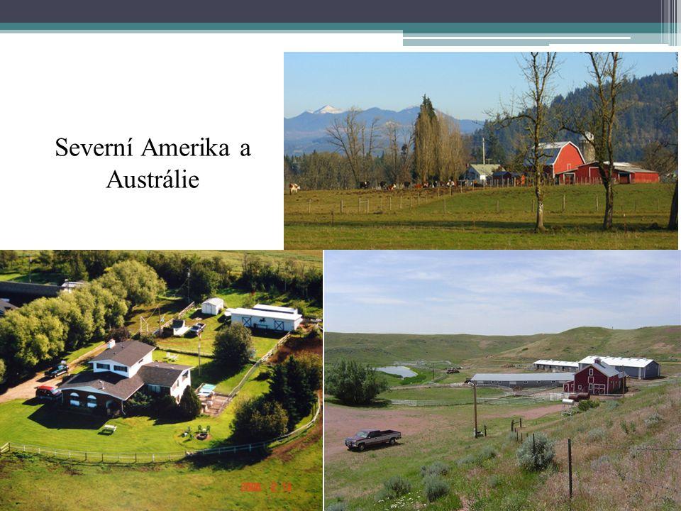 Severní Amerika a Austrálie