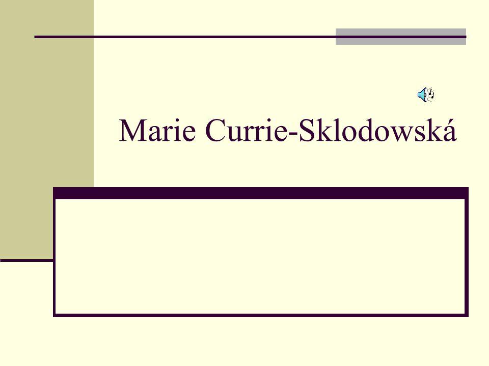 Marie Currie-Sklodowská