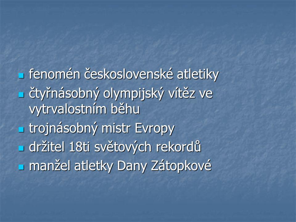 fenomén československé atletiky