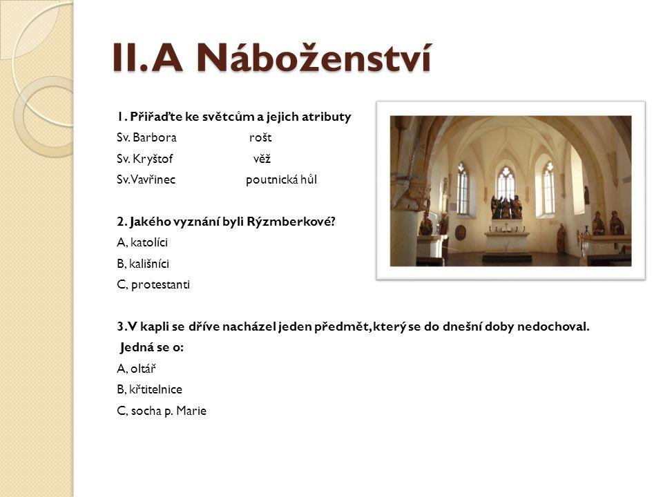 II. A Náboženství