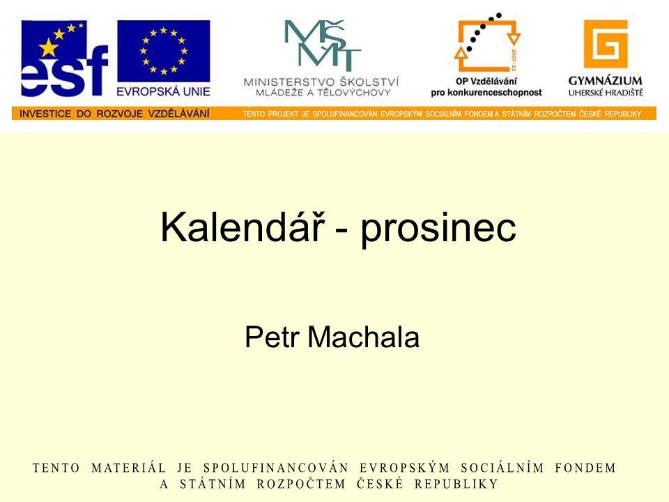 Kalendář - prosinec Petr Machala