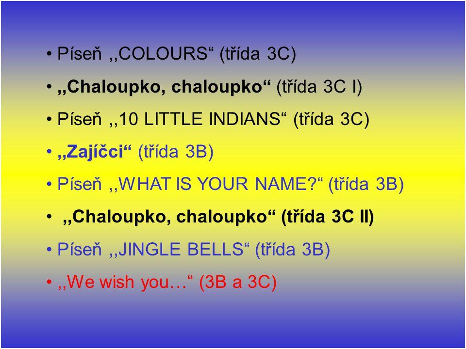 Píseň ,,COLOURS (třída 3C)