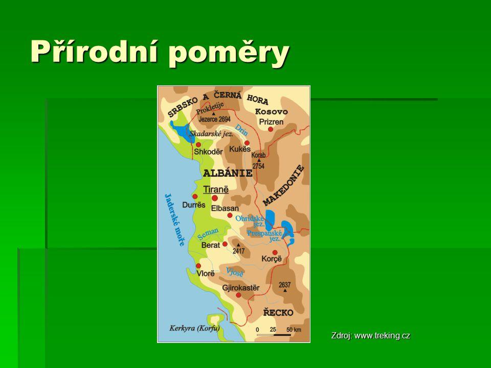 Přírodní poměry Zdroj: www.treking.cz