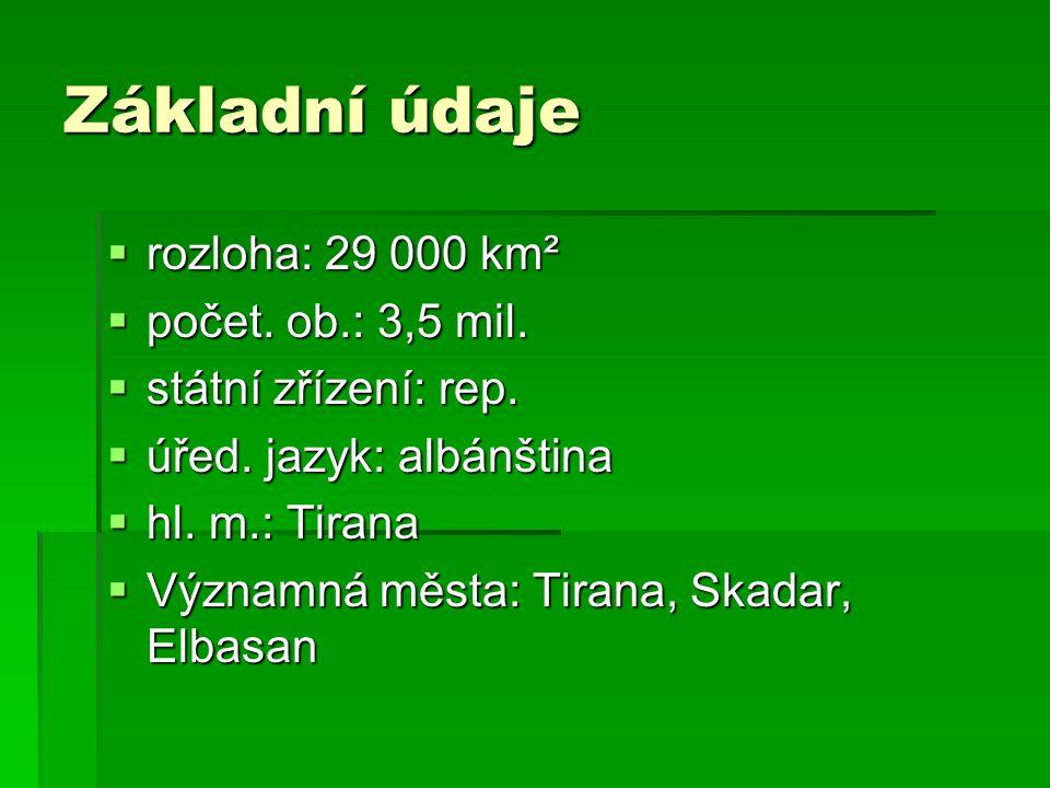 Základní údaje rozloha: 29 000 km² počet. ob.: 3,5 mil.