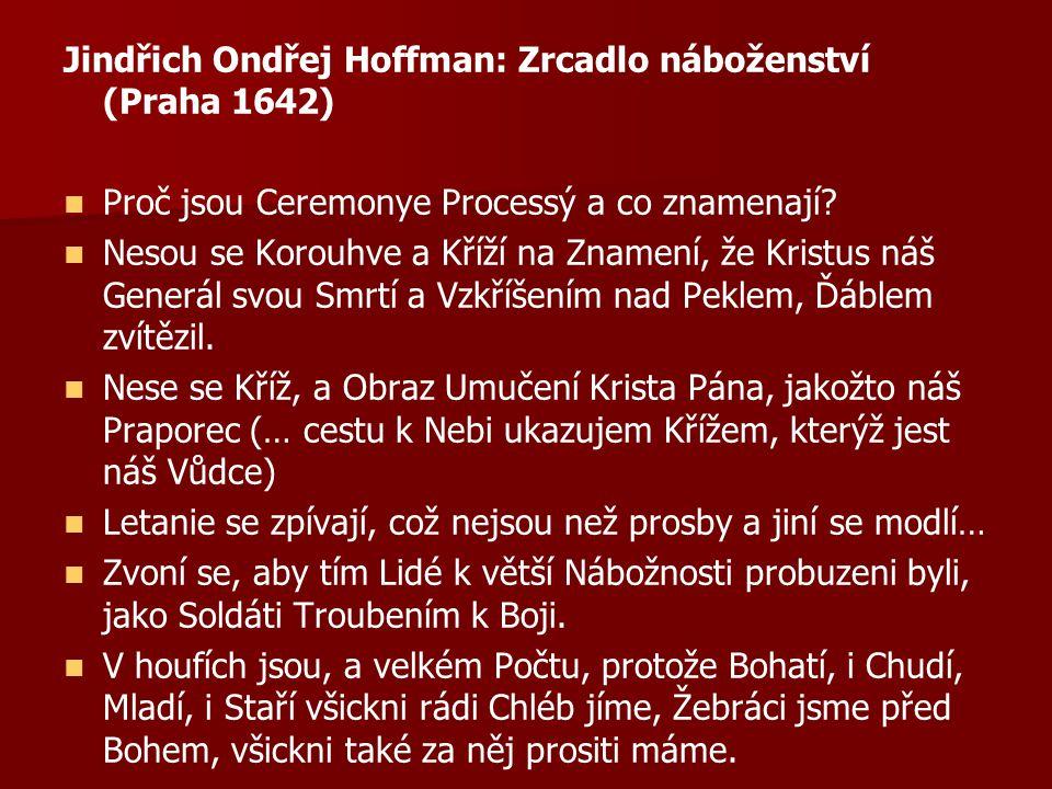 Jindřich Ondřej Hoffman: Zrcadlo náboženství (Praha 1642)