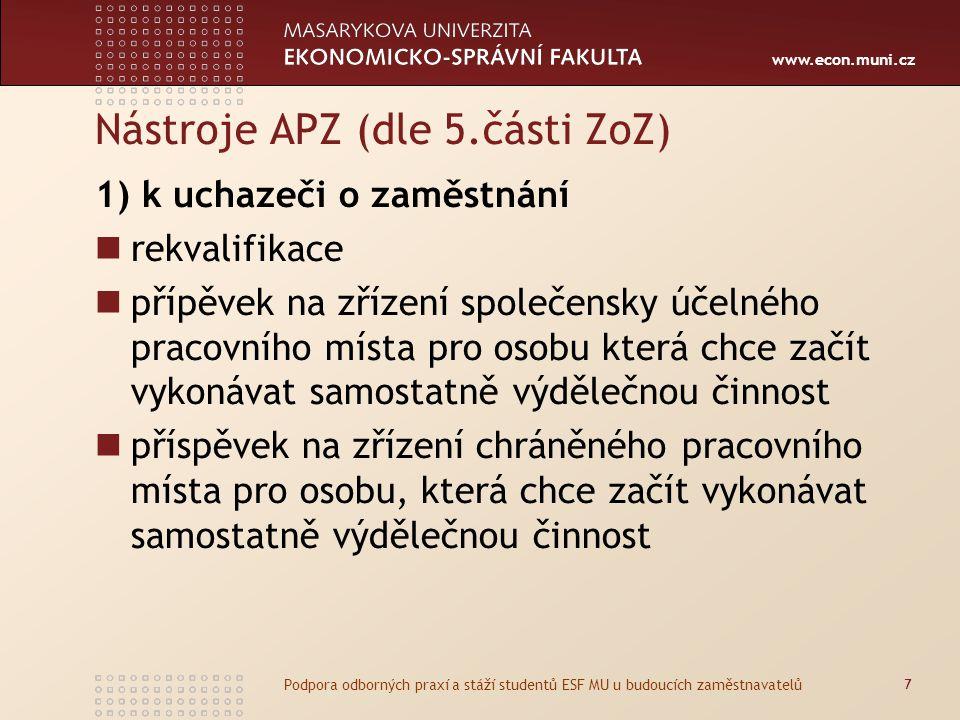 Nástroje APZ (dle 5.části ZoZ)