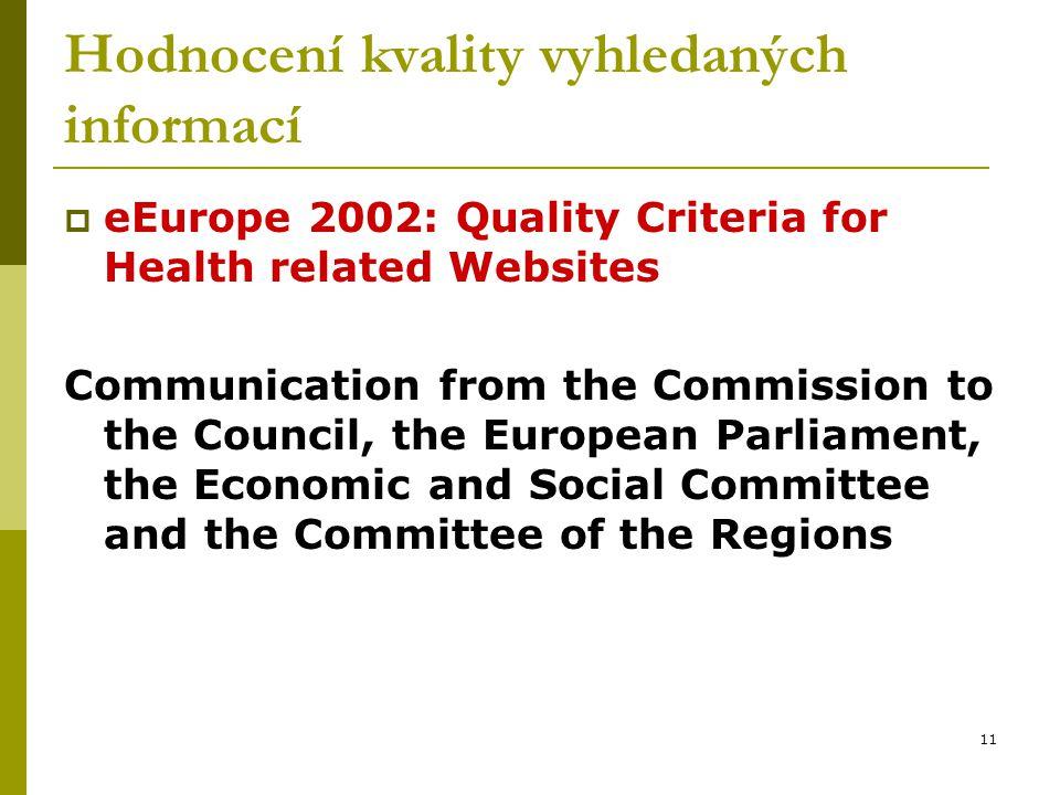 Hodnocení kvality vyhledaných informací