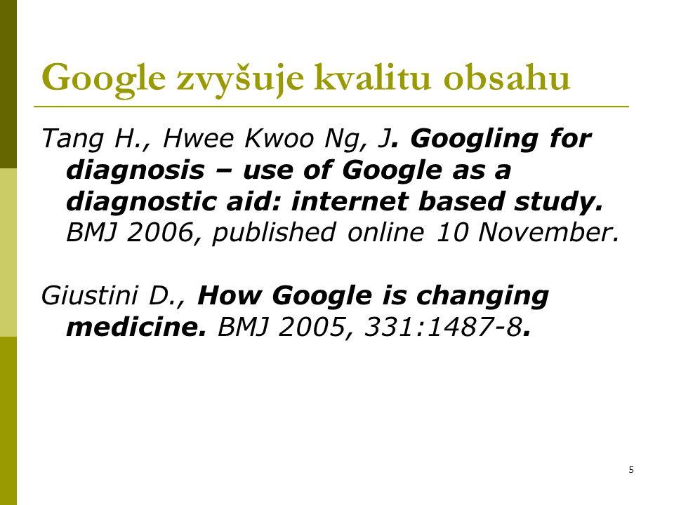 Google zvyšuje kvalitu obsahu