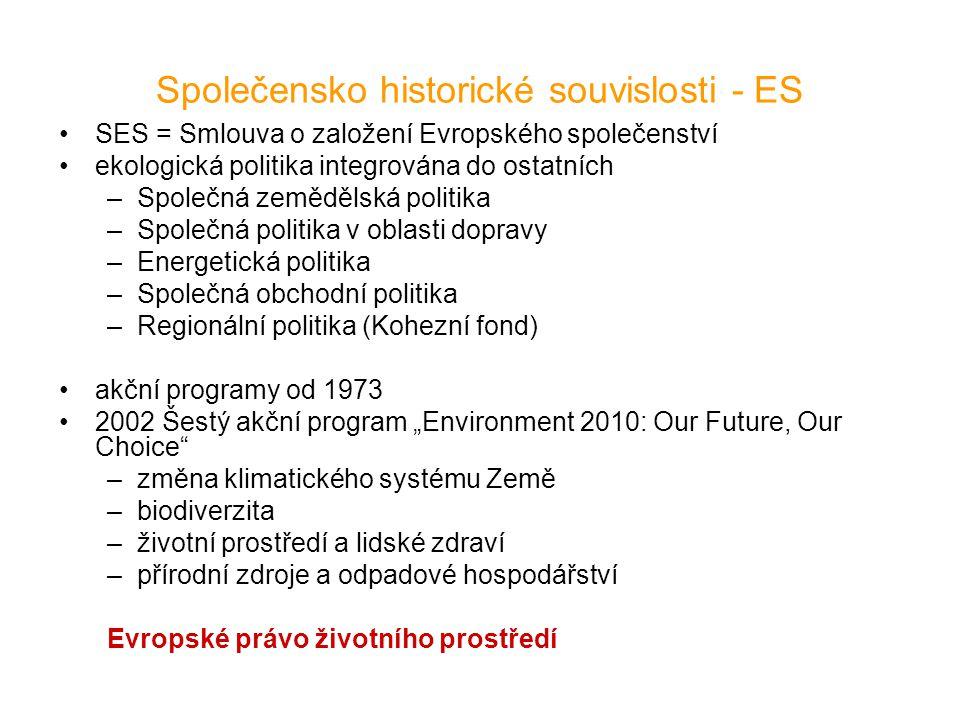 Společensko historické souvislosti - ES