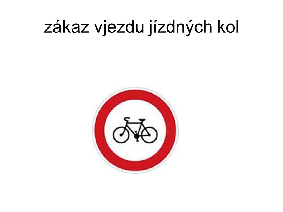 zákaz vjezdu jízdných kol