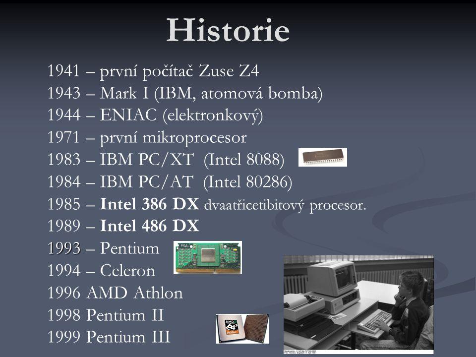 Historie 1941 – první počítač Zuse Z4