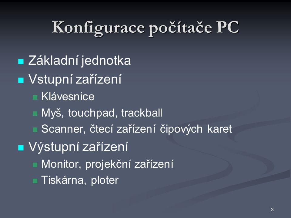 Konfigurace počítače PC