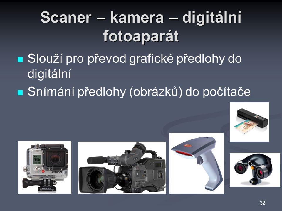 Scaner – kamera – digitální fotoaparát