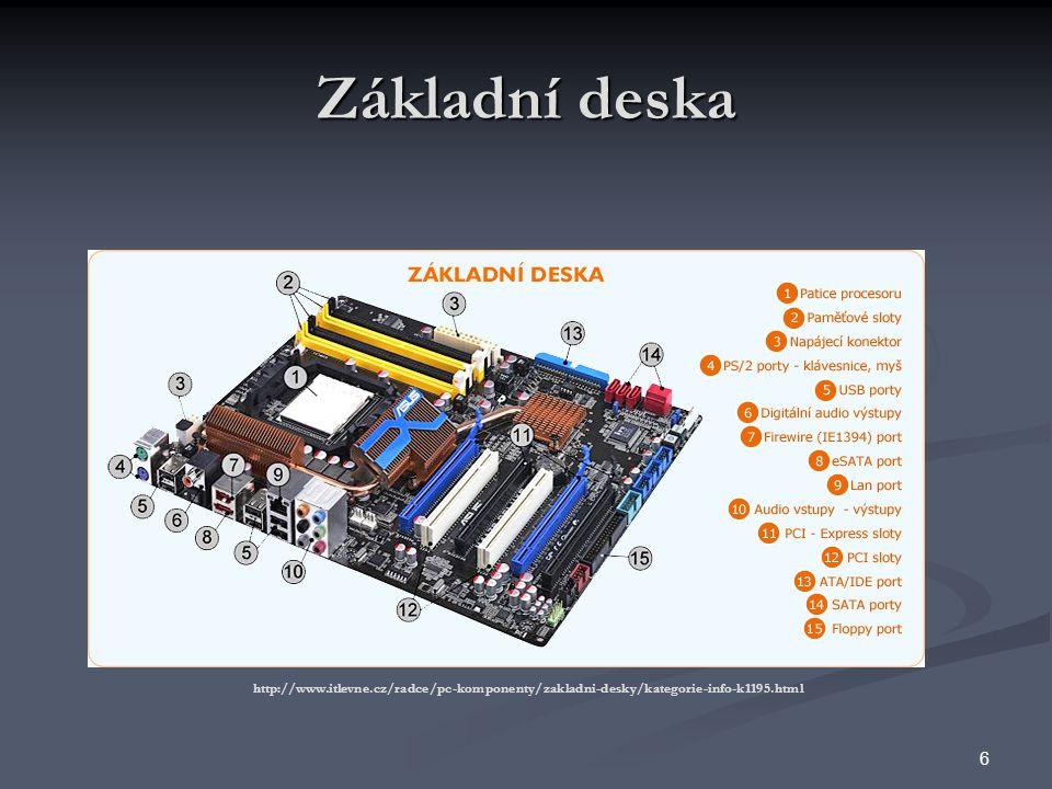 Základní deska http://www.itlevne.cz/radce/pc-komponenty/zakladni-desky/kategorie-info-k1195.html