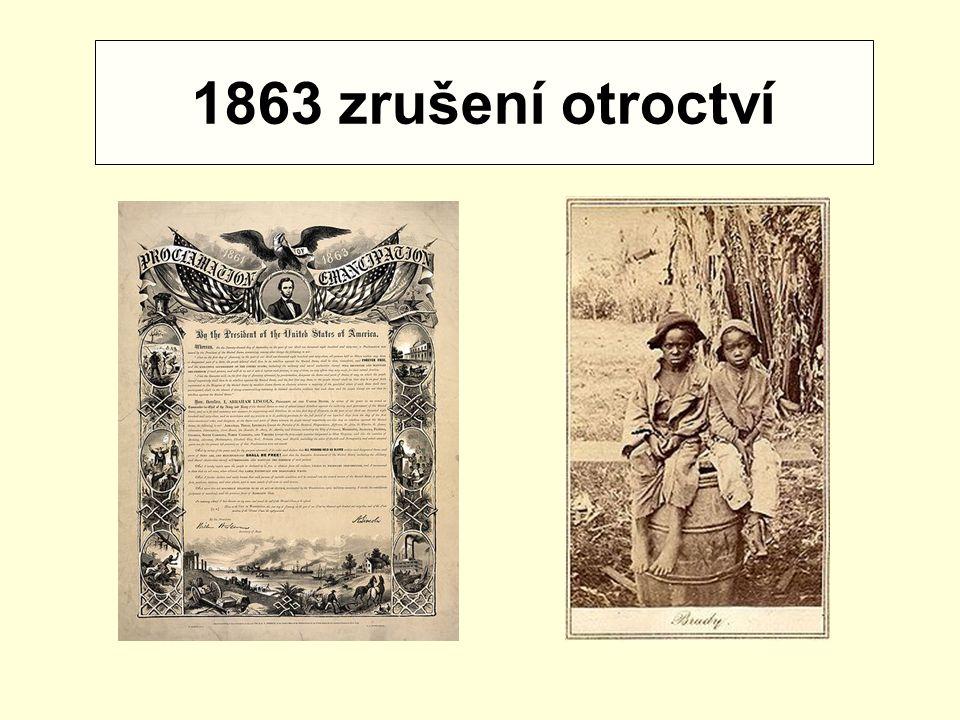 1863 zrušení otroctví