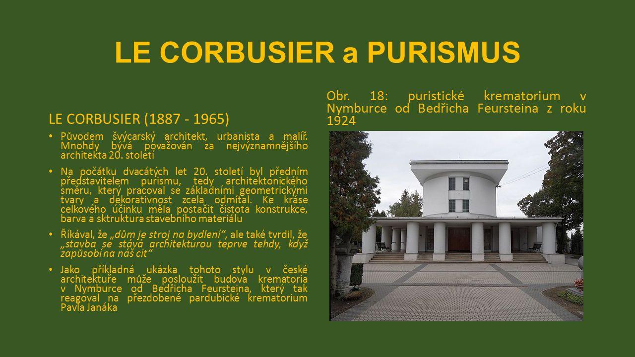 LE CORBUSIER a PURISMUS